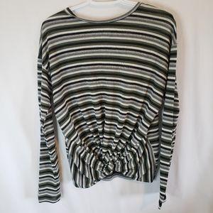 Ardene xl stripe knot top long sleeve